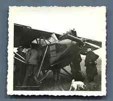 Avion de tourisme F-ALOC  Vintage silver print. Old plane F-ALOC  Tirage argen