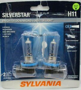Sylvania Silverstar H11 Pair Set High Performance Headlight 2 Bulb New Open Box
