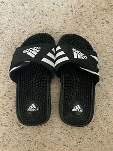 Youth Kids Adidas Slides Flip Flops Shoes Size 1 EUC