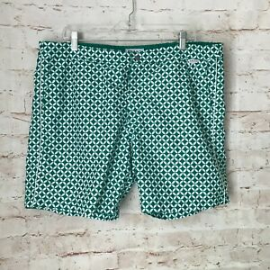 ❤️ NEW Men's IBIZA Ocean Club Size 38 Swim Trunks Board Shorts Green & White