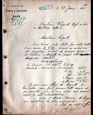 CHEF de GARE de MAGNETTE prés d'AUDES (03) CHEMIN DE FER de PARIS à ORLEANS 1910