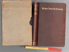 Rare 1932 1st Edition in Case MODERN TROUT FLY DRESSING Roger Woolley As New!!!