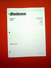 BOLENS HYDROSTATIC TRACTOR MODELS 1668 & 1668L PARTS MANUAL 11/88