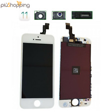 TOUCH SCREEN LCD DISPLAY RETINA PER APPLE IPHONE 5S VETRO SCHERMO BIANCO + FRAME