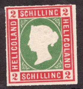 Heligoland - 2 Schilling - 1870's *model - Embossed Queen Victoria - Superfleas