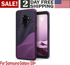 Samsung Galaxy S9 Plus Case Shield Drop Protection Wave Design Metallic Purple