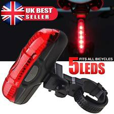Mountain Bike Road Bicycle Red Rear Lights Cycling 5 LED Tail Back Safety Lamps