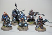 Warhammer 40k Eldar Craftworlds Rangers Scouts x 5 Metal - LOT 127