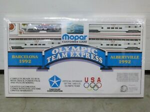 MOPAR EXPRESS 1992 US OLYMPIC TRAIN SET, HO Gauge in Sealed Box, BROOKFIELD