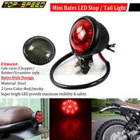 Black Motorcycle Round LED Stop Taillight For Harley Honda BMW Yamaha Cafe Racer