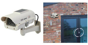 Silverline Dummy CCTV Home Security Camera with LED Solar Powered & Weatherproof
