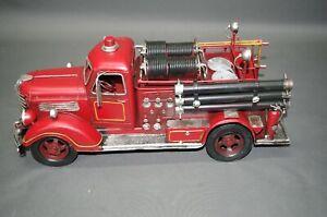 Alte Feuerwehr Modellauto Blechauto 40 cm Oldtimer  Feuerwehrauto
