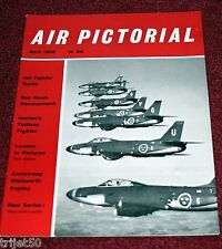Air Pictorial 1959 April Argosy,Lansen,Horten,Sea Hawk,Gannet,XP-67