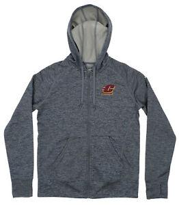 adidas NCAA Women's Central Michigan Chippewas Full Zip Tech Fleece Hoodie, Grey