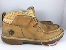 TIMBERLAND RUGGED STREET NUBUCK Chukka Men US 9 Tan Leather Boots Shoes