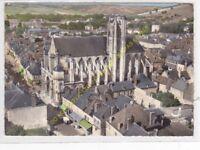 CPSM 89500 VILLENEUVE SUR YONNE vue aérienne Eglise Notre Dame Edit LAPIE