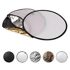 """23.6"""" 5 In 1 Collapsible Light Photography Reflector Light Flash Reflector Kit"""