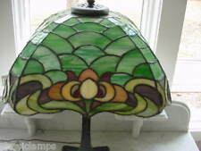 """DUFFNER & KIMBERLY  LEADED  STAINED GLASS """"OWL""""  LAMP EXCELLENT CONDITION"""