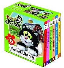 NEW GUESS WITH JESS  POCKET LIBRARY box of 6 board books POSTMAN PAT
