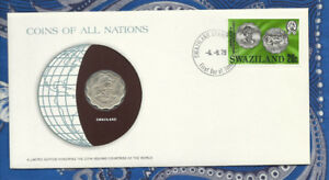 Coins of All Nations Swaziland 20 Cents 1975 UNC