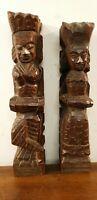 deux ancienne statue roi et reine INDE sculpture