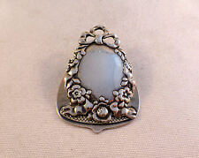 Fancy Floral Sterling Hinged Vintage Paper Clip By Ferdinand Fuchs & Bros