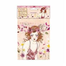 Santoro Willow Colour Me In Craft Collection - Rubber Stamps - Innocence