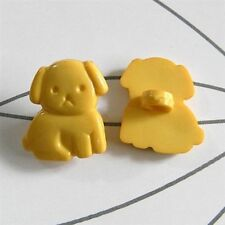 20 Dog Pet Clothes Novelty Kid Craft Dress it up Sewing On Buttons Yellow K15