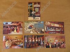 7 Vintage Postcards Old West Casino Slots Virginia City Las Vegas Calico 1950s