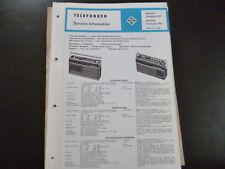 Original Service Manual Telefunken partner compact 101 partner exlusiv 401