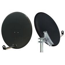 80cm Hi-Gain Satellite Dish + Pole Mount Fitting 4 Sky Freesat Hotbird Polesat