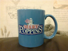 MARY POPPINS BLUE OFFICIAL DISNEY COFFEE MUG 9.5CM HIGH 8CM DIAMETER CUTE