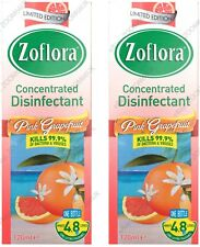 ZOFLORA 2x120ml Antibacterial Disinfectant Limited Edition - PINK GRAPEFRUIT UK