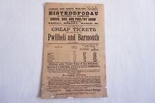 More details for 1894 lnwr railway handbill timetable pwillheli & barmouth