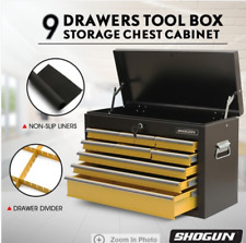 Tool Chest 9-Drawer Tool Storage Cabinets Rust Resistant Tool Cabinet with Lock