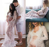 Maternity Photography Props Pregnancy Fancy Dress Lace Robe Strapless Maxi Gown