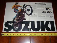 1975 SUZUKI TM-250 125 100 400 - ORIGINAL 2 PAGE AD