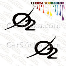 "2 of 5"" Oxygen O2 Audio /A aftermarket car window bumper stickers decals"