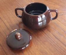 Chocolate Brown Bauer Sugar Bowl – Mid-Century Modern
