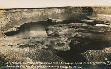 Coulee WA * Dry Falls Ancient Bed of Columbia River RPPC ca. 1920s?