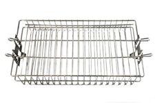 Rotisserie Basket  Flat 14 x 7.5 Chrome Plated Steel
