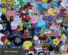 HUGE PATCH LOT. 200 PATCHES. NEW AND OLD SELECTION.  iron on and sew on patches