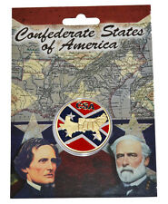 American Civil War Coloured Confederate States Collectors Coin New In Wallet