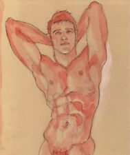 ORIGINAL MALE NUDE solluble sanguine - UDO - by GERMANIA