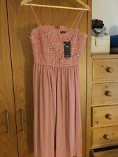 New M&S Collection Dusky Pink Bridesmaid Wedding Dress Size 12 Regular RRP £59