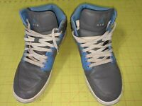 NIKE AIR JORDAN Men's Skate Sneaks Size 10 Grey Leather Light Blue Accents