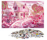 1000 Pieces Jigsaw Puzzles, Pink Candy Jigsaw, Pink Palace Jigsaw Puzzle