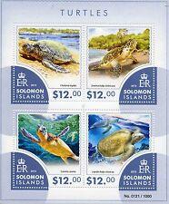 Solomon Islands 2015 MNH Turtles 4v M/S Marine Reptiles Fauna
