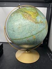 "Vintage 70's Replogle World Globe - 12"" - Land Sea Leroy M Tolman"