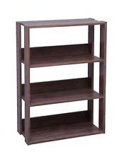 Iris Usa, Owr-600Br, 3-Shelf Wide Open Wood Shelving Unit, Dark Brown, 1 Pack
